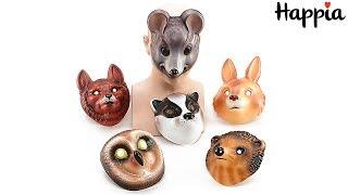 Детские новогодние маски животных / Обзор