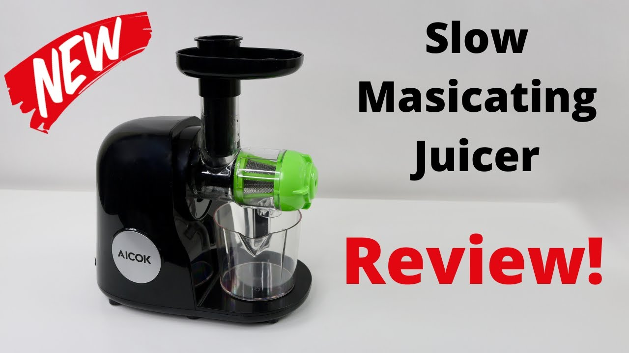 Aicok Slow Masticating Juicer Extractor Reverse Function Quiet Motor AMR521