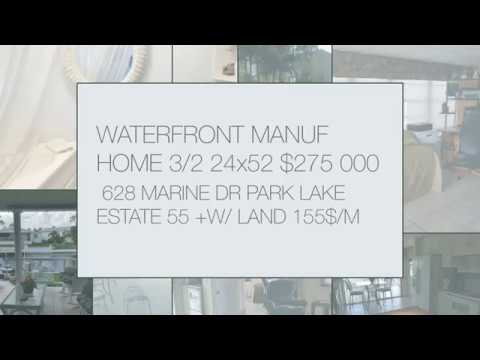 WATERFRONT MOBILE HOME 2+ DEN /2 24/52 628 MARINE DR HALLAND