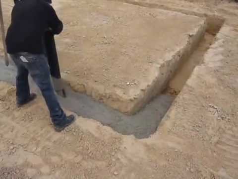Gut gemocht Fundament gießen - YouTube CH98