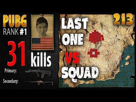 PUBG Rank 1 - Menthol 31 kills [AS] SQUAD TPP - PLAYERUNKNOWN'S BATTLEGROUNDS #213