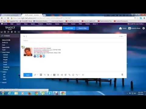 How to configure signature in yahoo mail