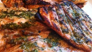 Best Grilled Salmon Recipe - Pesto Infused