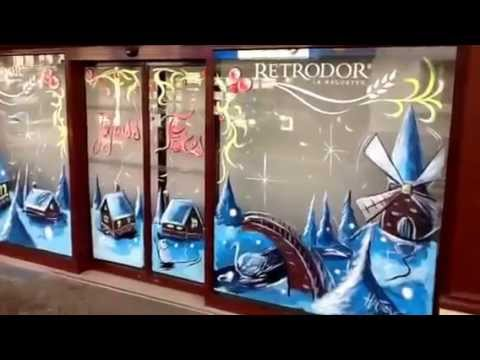 Decoration De Noel Sur Vitrine