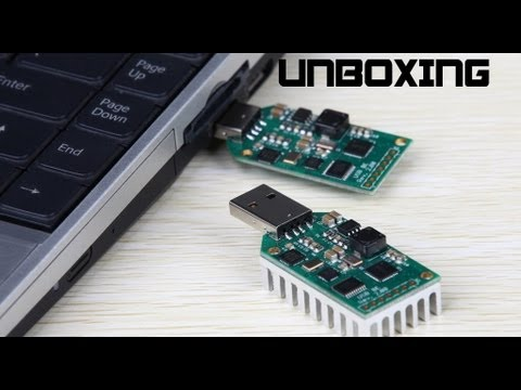 USB ASIC miner unboxing and testing