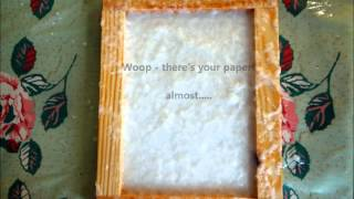 How to make handmade paper at home by Vintage Paper Co