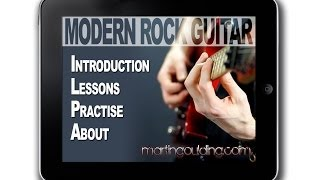 Modern Rock Guitar App with Martin Goulding for IPad