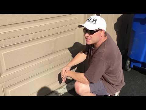 garage door dent repairEXTREME PDR on a GARAGE DOORunconventional Dent not typical