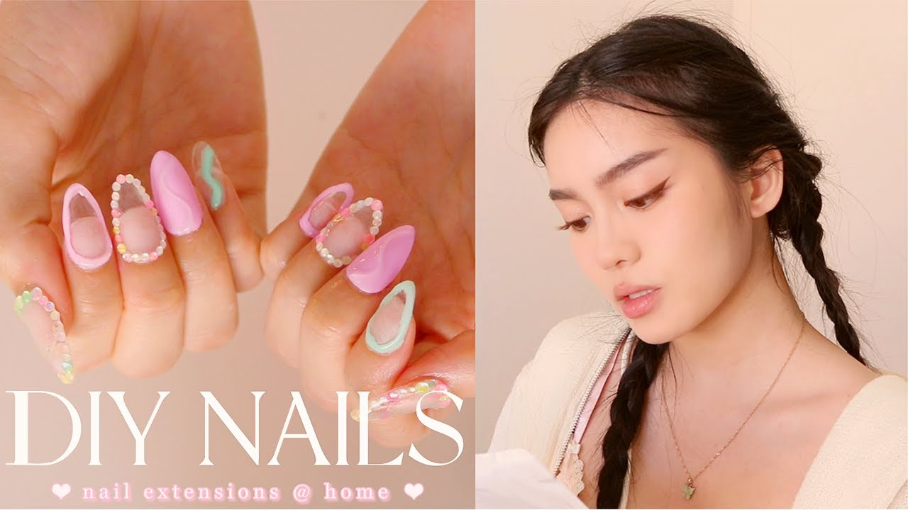 HOW TO DO YOUR OWN NAILS / NAIL EXTENSIONS (EASIEST method!) 💅🏻