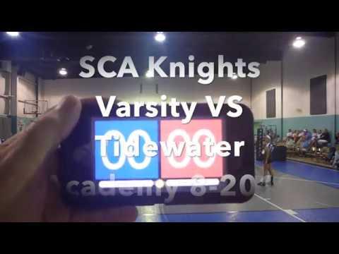 SCA Knights Varsity vs Tidewater Academy 8 2019