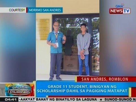 BP: Grade 11 student, binigyan ng scholarship dahil sa pagiging matapat