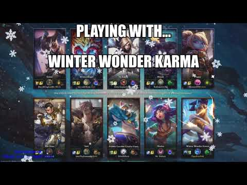 Winter Wonder Karma Skin Gameplay in ARAM