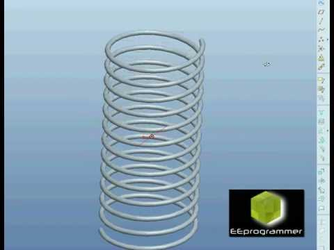 Pro/ENGINEER (Pro/E) tutorial - modeling a spring