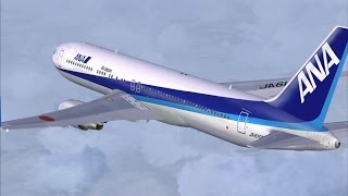 FSX Level-D 767 ANA 1260 Shanghai to Tokyo Full Flight Passenger Wing View