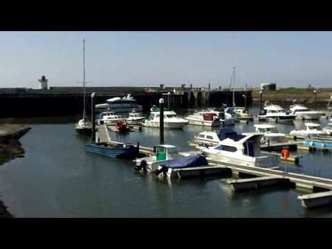burry port harbour in the spring