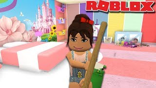 TEACHING MY DAUGHTER TO DO CHORES | Roblox Roleplay