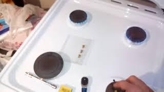 Замена и сравнение жиклеров при работе газовой плиты на пропан-бутане.