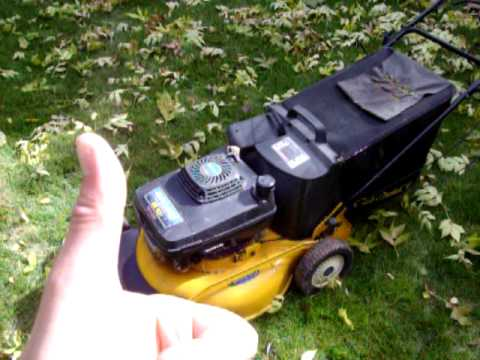 how to start tiger mower