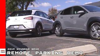 2019 Hyundai NEXO Fuel Cell SUV Remote Parking Demo