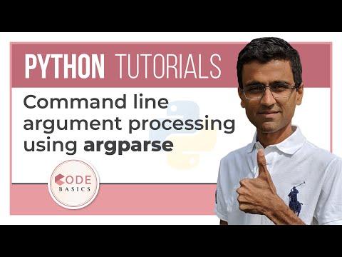Python Tutorial - 25. Command line argument processing using argparse