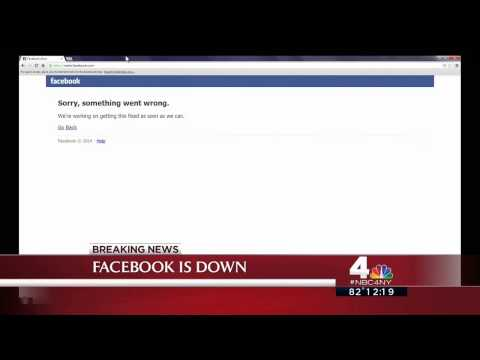 """Breaking news on WNBC's noon news: """"Facebook is down"""""""