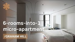 6 rooms into 1: morphing apartment packs 1100 sq ft into 420