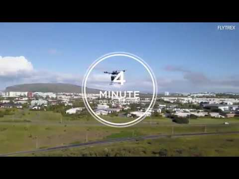 Flytrex drone delivers fast food across Reykjavik in Iceland