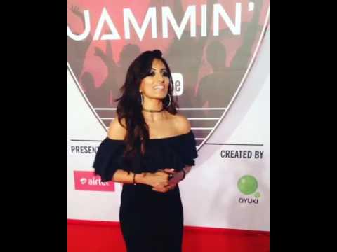 Uppekha on the RedCarpet of YouTube's Jammin Live Concert Mumbai