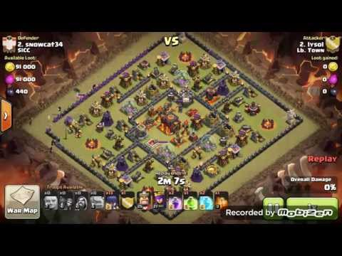 TH10 MASS WITCH ATTACK, straight ground and pound for Clash of Clans war 3 STARS ***