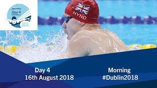 Day 4 Morning | 2018 World Para Swimming Allianz European Championships