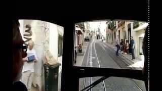 リスボンは坂の多い街でケーブルカーが役にたちました。