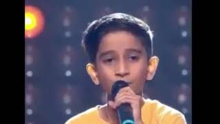 Vishwa prasad ganagi from belgam Karnataka! Singing in voice kids!  Subhanallah.....