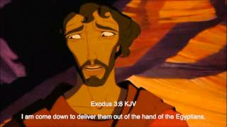 The Prince of Egypt (1998) - The Burning Bush Scene (Biblical subtitle)