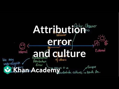 Attribution theory - Attribution error and culture | Individuals and Society | MCAT | Khan Academy