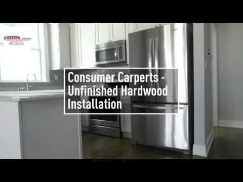 Consumer carpets - installation of unfinished hardwood flooring and dark stain