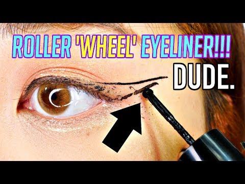 ROLLER WHEEL EYELINER?! WTF! watch until the end...