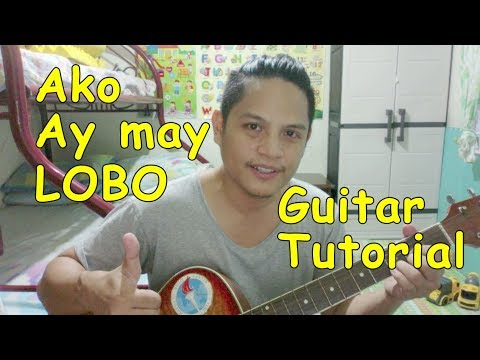 How to play Ako ay may lobo with a Guitar (Super easy)