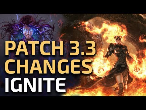 Path of Exile 3.3 - Ignite Changes thoughts