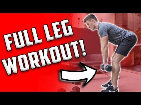 Full Leg Workout | 4 Leg Exercises With Dumbbells