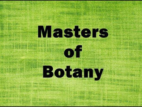 Masters of Botany