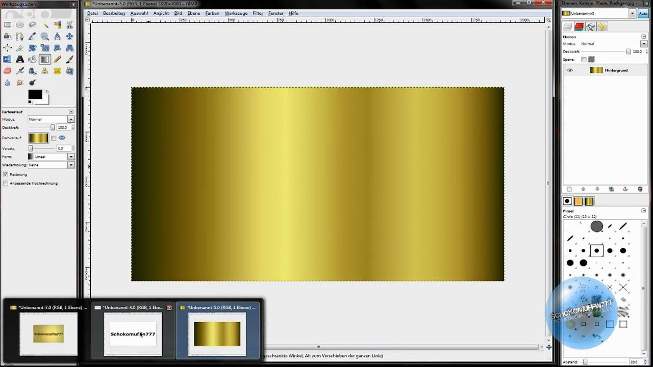 Gimp Tutorials HD: Gold Schrift Effekt - YouTube