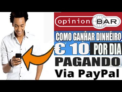 [ Opinion Bar ]  Saiba como ganhar dinheiro PAYPAL | Ganhe até €10 euros por dia | Home Office