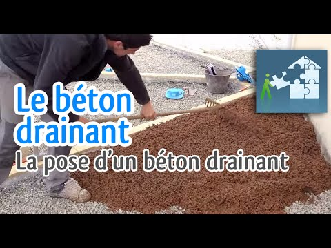ralisation dun bton drainant youtube - Bton Drainant Color
