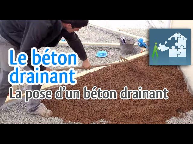 Réalisation Dun Béton Drainant