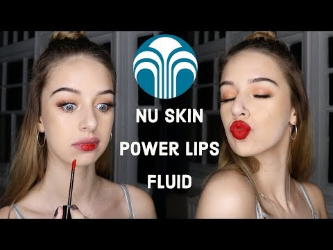 Nu Skin POWERLIPS FLUID Swatches+review! | Hannah Bellamy