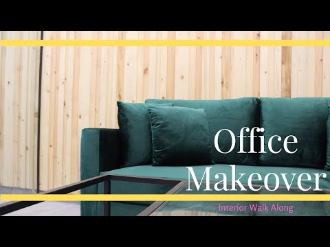 How to: Modern Office Makeover || Walk-Along || Design Tutorial || Lahore, Pakistan (PART 2)