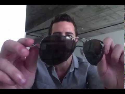 5b971246523 Ray-Ban RB 3025 004 58 Silver Polarized Aviators Review - YouTube