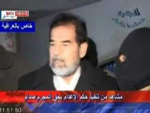 Video of Saddam Hussein's hanging execution - YouTube Saddam Hussein Execution