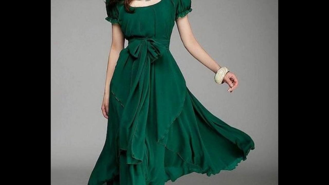Vestidos verde esmeralda damas