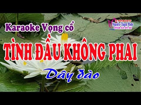 Karaoke vọng cổ TÌNH ĐẦU KHÔNG PHAI - DÂY ĐÀO [T/g Huỳnh Như]